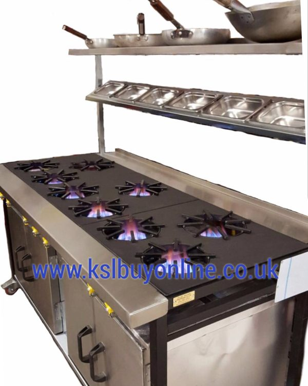 9 burner commercial cooker