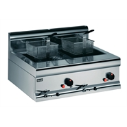 Lincat Silverlink 600 Natural Gas Counter Top Twin Fryer DF7/N