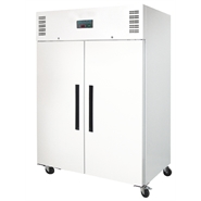 Polar Double Door Gastronorm Fridge White 1200 Ltr