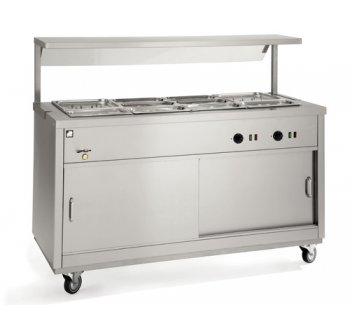 Parry Sliding Door Electric Hot Cupboard With Full Bain Marie Top 128.5 KG