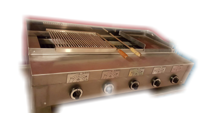 5 burner chargrill