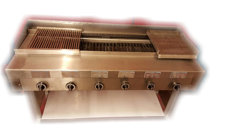 6 burner chargrill