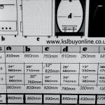 tandoori oven dimensions