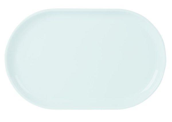 Porcelite narrow oval plate