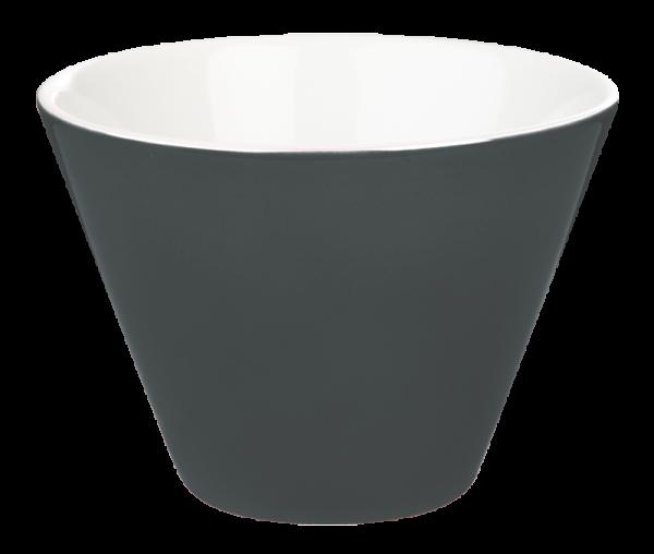 porcelite conic bowls black